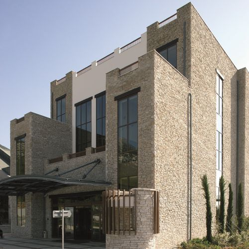 concrete wall cladding / exterior / interior / textured