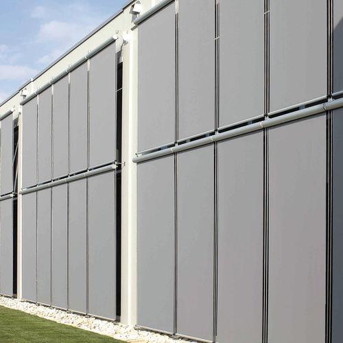 solar protection fabric / for roller blinds / plain / fiberglass