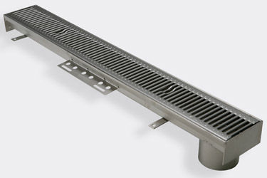 patio drainage channel / for parking lots / stainless steel / modular