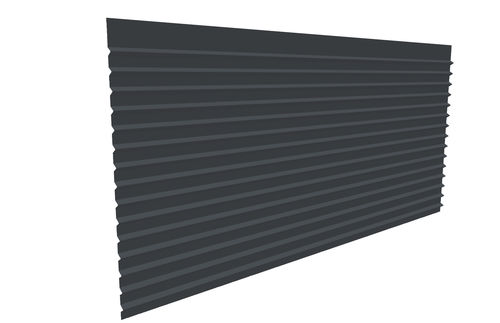 steel cladding / grooved / panel