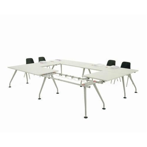 contemporary boardroom table / aluminum / steel / rectangular