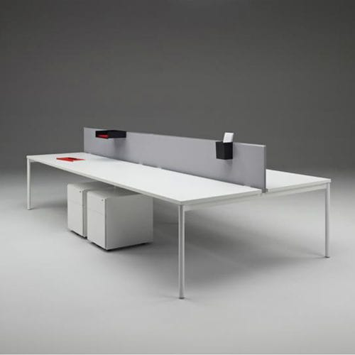 countertop office divider / fabric / laminate / acrylic