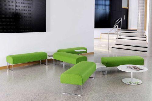 public bench / contemporary / fabric / foam