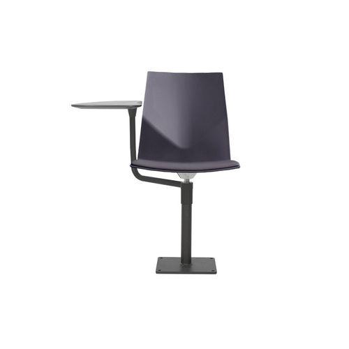tablet auditorium seat / upholstered / polypropylene
