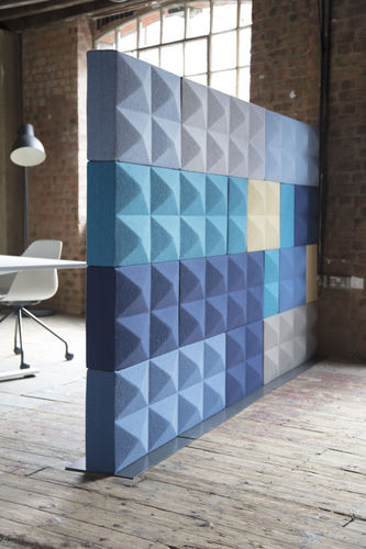 Interior fitting acoustic panel / wool / for public buildings FABRICKS by by Nigel Sikora Four Design