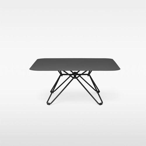 contemporary coffee table / galvanized steel / laminate / round