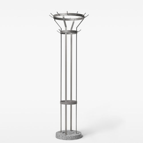 floor coat rack / contemporary / metal / with integrated umbrella stand