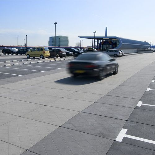 concrete paving slab / drive-over / textured / for parking lots