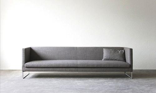 Contemporary sofa / leather / steel / fabric FLUIDUM : BIRD Atelier Alinea