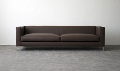 Contemporary sofa / leather / steel / fabric FLUIDUM : LIZARD Atelier Alinea