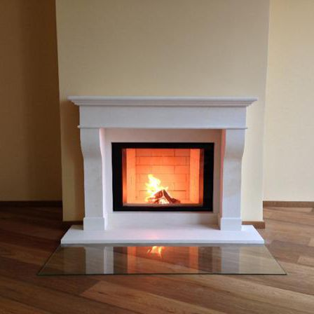 traditional fireplace surround / marble