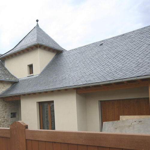 slate roofing / roof tile look