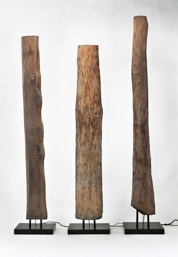 floor-standing lamp / original design / wooden