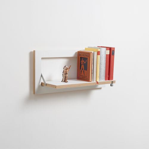 wall-mounted shelf / modular / minimalist design / birch