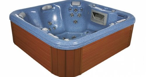 above-ground hot tub / square / 5-person
