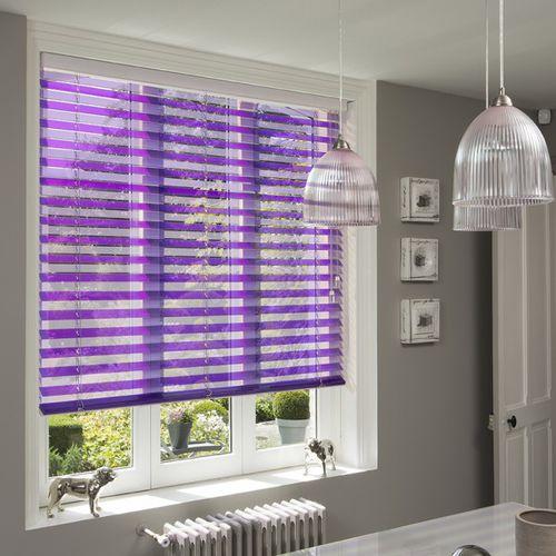 Venetian blinds / wooden / leather / Plexiglas®