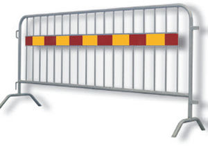 crowd barrier / fixed / galvanized steel / for public spaces