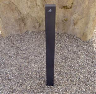 security bollard / galvanized steel / high