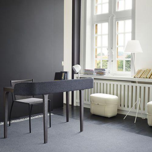 oak desk / ash / contemporary / with storage