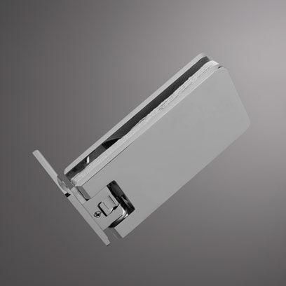 glass door hinge / shower / brass