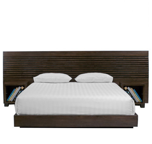 Double bed / contemporary / with headboard / integrated bedside table MIRAI : PM.B-2 WARISAN