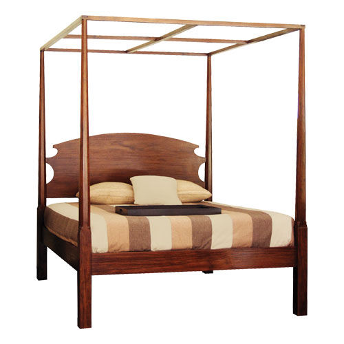 Canopy bed / double / traditional / with headboard PENCIL : CL.PB7 WARISAN