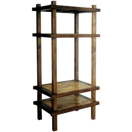 contemporary shelf / teak / mahogany / for TV