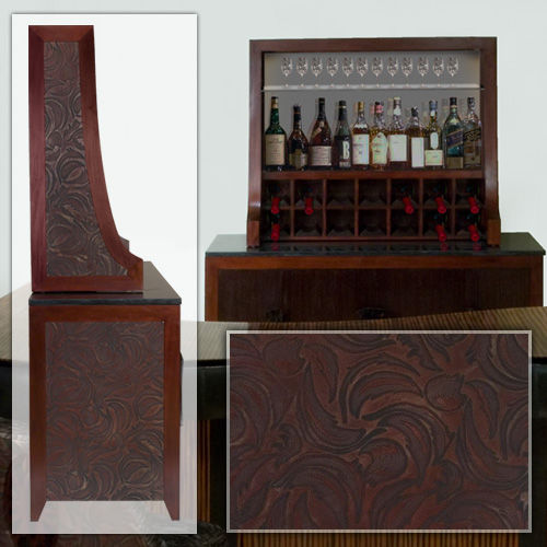 contemporary bar cabinet / wooden