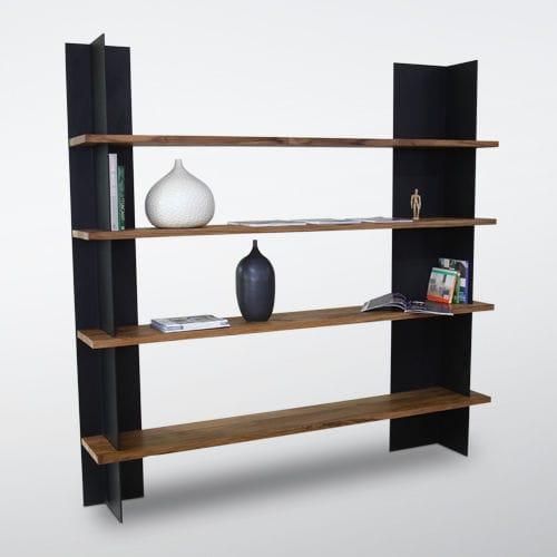 contemporary bookcase / wooden