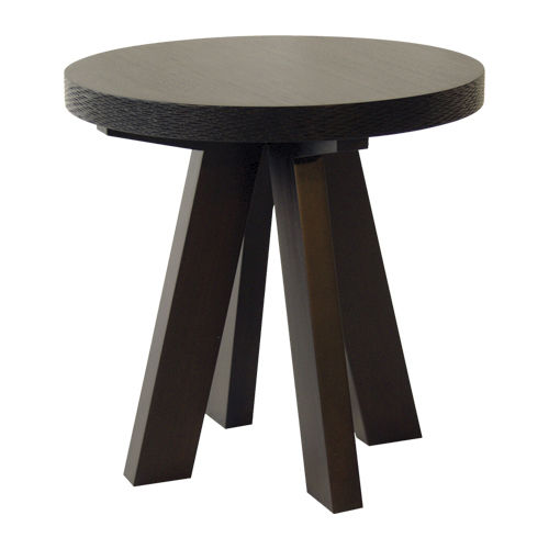 Contemporary side table / wooden / round NEWPORT : C.SR7 WARISAN