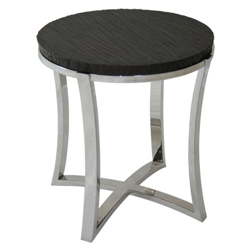 Contemporary side table / wooden / metal / round EDG-E : C.STR43 WARISAN