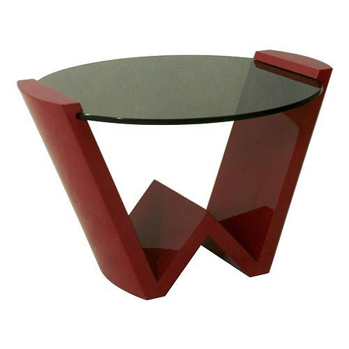 Contemporary side table / glass / round W : C.ST46 WARISAN