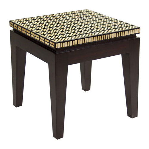 Contemporary side table / wooden / rectangular RIKO : C.ETRK WARISAN