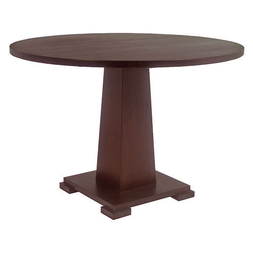 Contemporary table / wooden / round OBELISK : C.RT15.S WARISAN