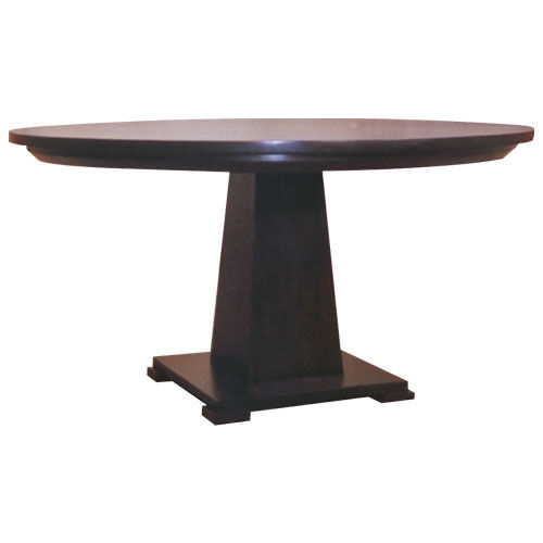 Contemporary table / wooden / round OBELISK : C.RT15.L WARISAN
