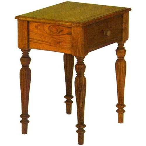 Traditional bedside table / wooden / rectangular / with drawer RAFFLES : CL.ST1 WARISAN