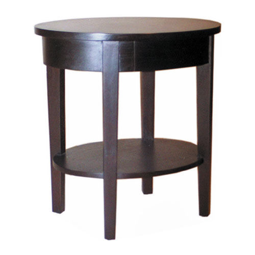 Contemporary side table / wooden / round OVAL : C.ST23 WARISAN