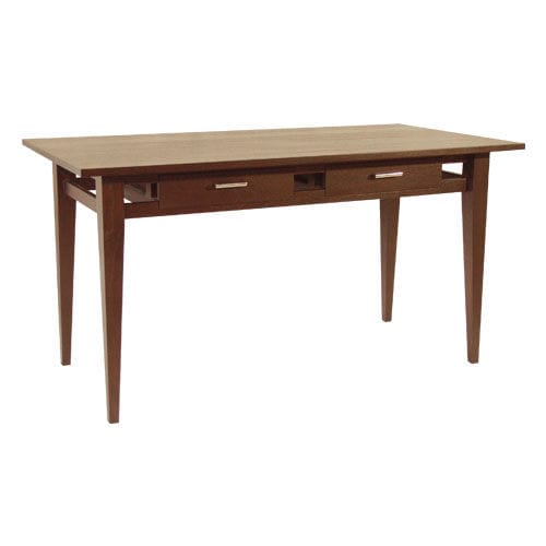 mahogany desk / teak / contemporary