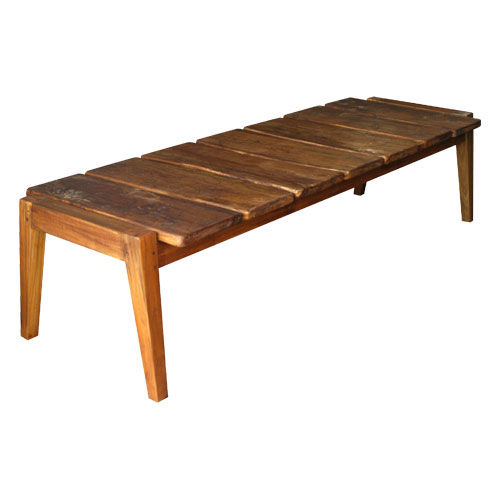 Traditional bench / wooden ANGULO : P.BE6 WARISAN