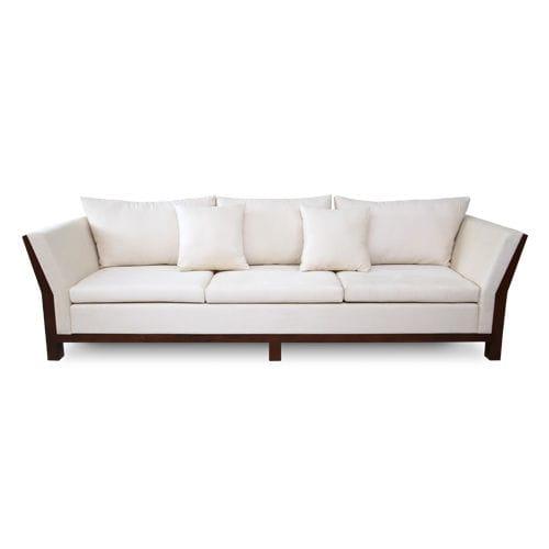 contemporary sofa / fabric / 3-seater / white