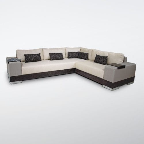 corner sofa / contemporary / fabric / 7-seater and up