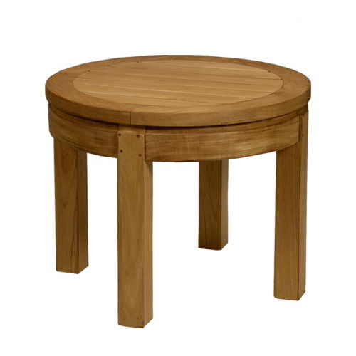 contemporary side table / wooden / round / garden