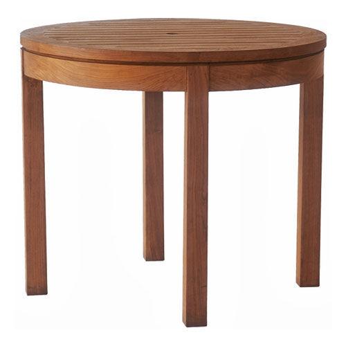 Contemporary table / wooden / round / garden BEVEL : G.RT4 WARISAN