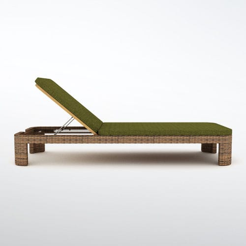 contemporary sun lounger / wooden / pool