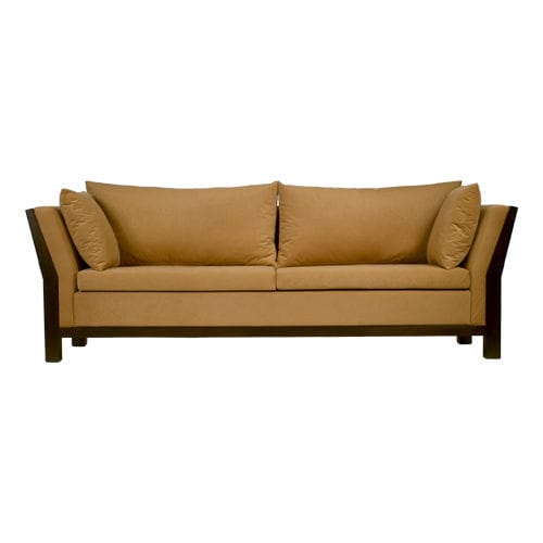 contemporary sofa / fabric / 2-person / brown