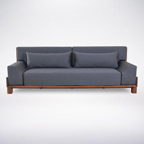 contemporary sofa / wooden / fabric / 2-person