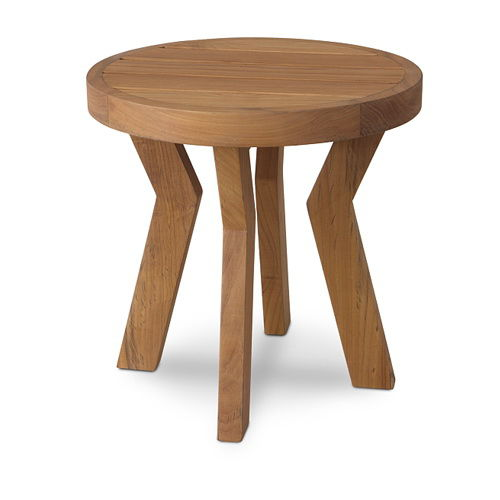 Contemporary side table / wooden / round / garden BELLA : G.RST68 WARISAN