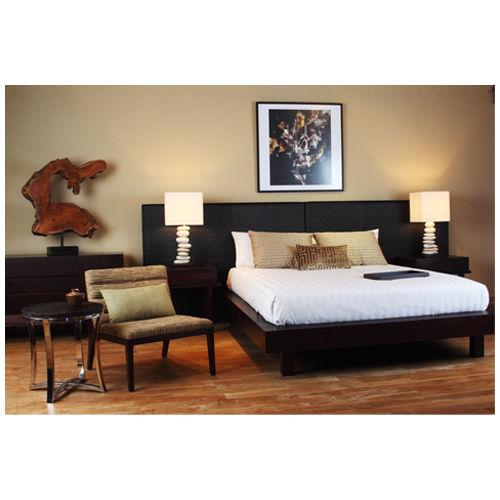 Double bed / contemporary / with headboard / wooden EDG-E : C.B43.B - USQ WARISAN
