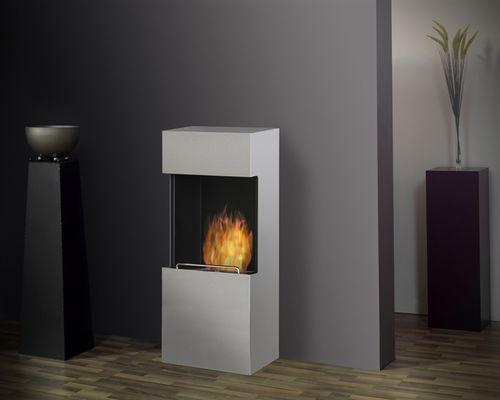 bioethanol heating stove / contemporary / metal