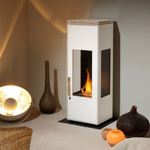 bioethanol heating stove / contemporary / 3-sided / metal